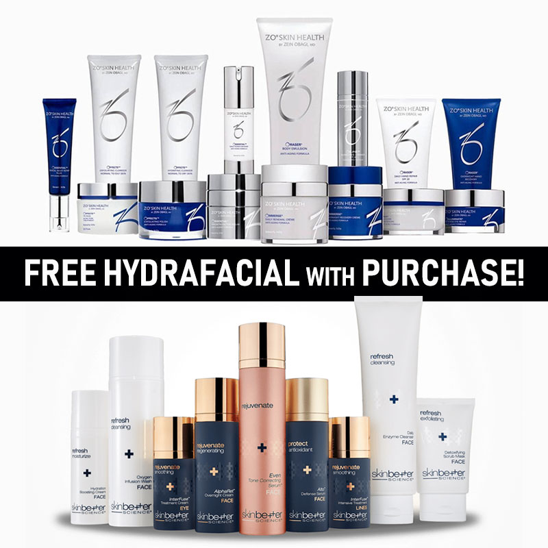 FREE Hydrafacial with Skincare Purchase