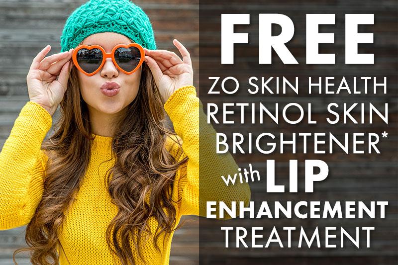 FREE Retinol Skin Brightener with Lip Enhancement Treatment